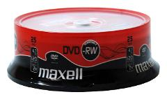 Maxell DVD-RW 4.7Gb 2x Spindle 25 rewritable dvd 25 pack dvd r...