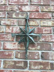 Turquoise Direction Star Cast Iron Wall Decor Nautical Hangin...