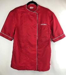 Krispy Kreme Doughnuts Employee Uniform Chef Coat Size M Red