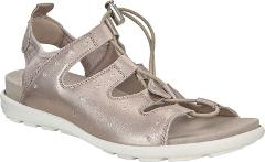 ECCO Jab Toggle Sandals (Women's Shoes) in Moon Rock Leather -...