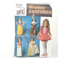 Simplicity 7378 Costumes Pattern Uncut Size A 3 to 8 Little Pr...