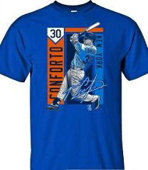 New York Mets MLBPA Michael Conforto #30 Color Block Youth Boy...