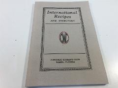 Cook Book - International Recipes and Directory Catholic Woman...
