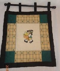 New Pilgrim Teddy Bear Finished Cross Stitch Wall Hanging Qui...