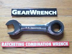 Gearwrench Stubby Combination Ratcheting Wrench SAE Metric U...