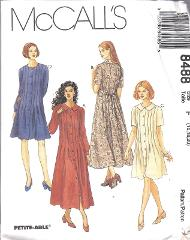 8488 UNCUT Vintage McCalls SEWING Pattern Miss Loose Fitting D...