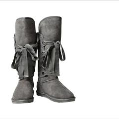 Australian Luxe Collective Grey Lace Up Boots Size 9 NIB