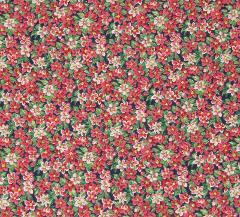 Pink Flowers Cotton Fabric 34
