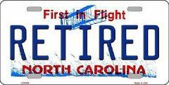 Retired North Carolina Novelty Metal License Plate