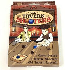 Classic Old Tavern Shooters Table Drinking Game, Marble Coloni...