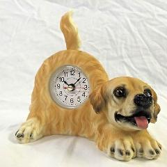 BACK TO SCHOOL $$ Critter Clock Golden Retriever Tabletop Wagg...