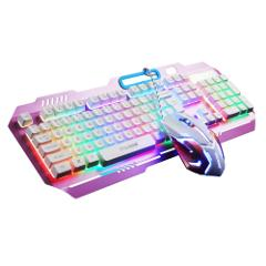 TTQ Gaming Keyboard Mechanical Touch Feeling with Rainbow Back...