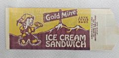 Vintage 1960s Gold Mine Ice Cream Sandwich Wrapper DCA Food In...