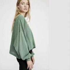 Free People We The Free Buffy Tee Palm Green XSmall XS NWT $58...