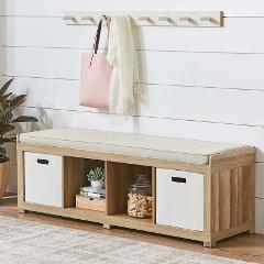 4-Cube Organizer Versatile Better Homes and Gardens Bench, Mul...