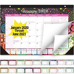 Desk Calendar 2020-2021: Large Monthly Pages 17 x 11-1/2 Inche...