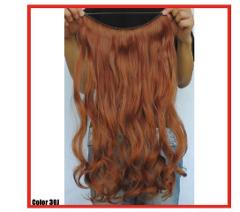 COPPER RED #30J Halo Style HAIR EXTENSIONS 24