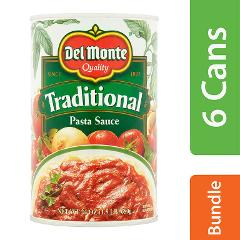 Del Monte Traditional Pasta Sauce 24 Oz Cans Pack of 6 (Exp:9/...