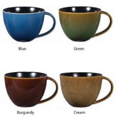 Gibson Set of 4 Ceramic Assorted Earthly Jewels 18.5 Oz Mugs B...