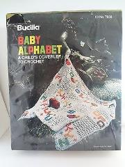 Vintage Bucilla Baby Alphabet Child's Coverlet To Crochet Kit ...