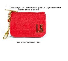 LAST KINGS COIN POUCH RED 100% Authentic Last Kings Mens Red z...