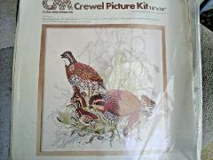 Vintage 1977 Columbia-Minerva Crewel Embroidery Kit 16 x 16 in...