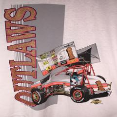 Outlaws XL Racing Sprint Car 1990 T Shirt NARC SCRA Dirt Track...
