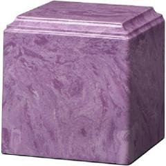 Large/Adult 280 Cubic Inch Purple Cultured Marble Cube Cremati...