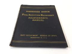1944 American Bosch Fuel Injection Equipment Maintenance Manua...