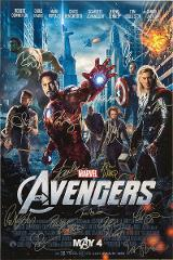 AVENGERS MOVIE Poster Signed by 16 cast with COA, AUTHENTIC