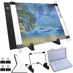 A4 LED Light Pad for Diamond Painting, USB Powered Light Board...