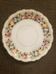 19th Century W. B. & CO Opaque Granite China Flower Dinner Pla...