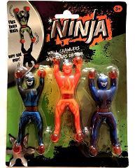 Ninja Wall Crawlers Toys Flips Tumbles Rolls Down Walls Plasti...