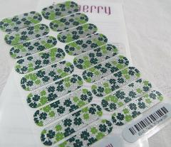 Jamberry Fields Of Clover 0317 85A5 Nail Wrap Full Sheet