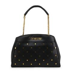 Love Moschino New Women's Black, Red Leather Tote Shoulder Han...
