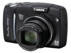 Canon Powershot SX110IS 9MP Digital Camera w/ 10x Optical Imag...