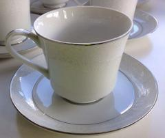 Crown Victoria Lovelace China Cup & Saucer