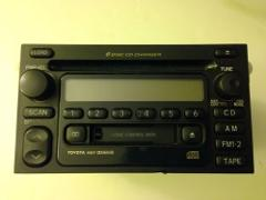 TOYOTA 4Runner AM FM Radio Stereo Tape A56811 OEM 6 CD changer