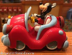 DISNEY PARKS WIND UP / PULL BACK TOY MICKEY MOUSE IN CAR NEW