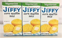 Jiffy Vegetarian Corn Muffin Mix 8.5 oz (3 pack)