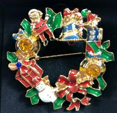 NEW in Box 2010 Avon Collectible Christmas Holiday Wreath Pin ...