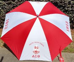 Delta Sigma Theta Sorority Umbrella Compact Rain Portable Lon...