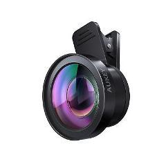 AUKEY Ora iPhone Camera Lens, 0.45 x 120 Wide Angle + 15x Macr...