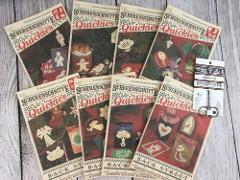 8 SCHERENSCHNITTE Scissor Cuttings Quickies Christmas Ornamen...