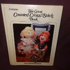 The Great Counted Cross-Stitch Book Patterns 1983 Hardcover Ed...