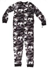 Joe Boxer Fleece Pajama Blanket Sleeper 10-12 L Ghost Camoufla...