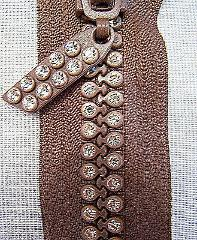 Chocolate Brown 9 Inch or 23 cm Double Row Crystal Rhinestone ...