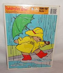 Paddington Bear Rain Umbrella Frame Tray Puzzle 1989 Golden 1...