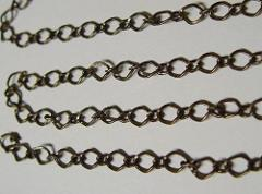 10 Ft Antique Brass 6x10mm Diamond Link Chain Long + Short Sty...