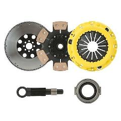 STAGE 3 RACE CLUTCH KIT+FLYWHEEL fits fits HONDA CIVIC D16Z6 D...